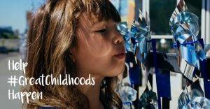 Pinwheel Symbolizes Hope for Happy Childhoods