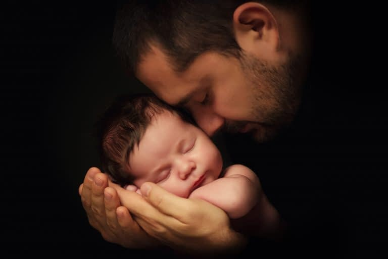 Being a new dad can be stressful, too.